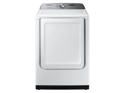 """27"""" Samsung 7.4 Cu. Ft. Electric Dryer With Energy Star Certification In White - DVE50T5205W/AC"""