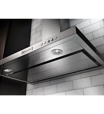 36'' KitchenAid  Wall-Mount, 3-Speed Canopy Hood - KVWB406DSS