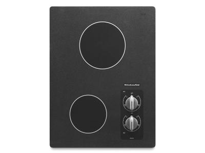 "15"" KitchenAid Electric Cooktop with 2 Radiant Elements - KECC056RBL"