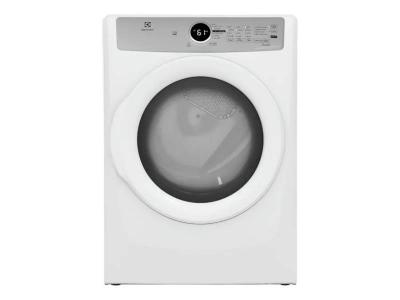 """27"""" Electrolux 8.0 Cu. Ft. Front Load Electric Dryer - ELFE733CAW"""