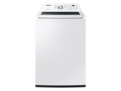 """27"""" Samsung 5.0 Cu. Ft. Top Load Washer With ActiveWave Agitator In White - WA44A3205AW"""