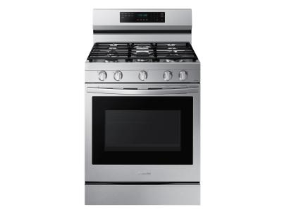 """30"""" Samsung 6.0 Cu. Ft. Freestanding Gas True Convection Range With Wi-Fi And Air Fry - NX60A6711SS"""