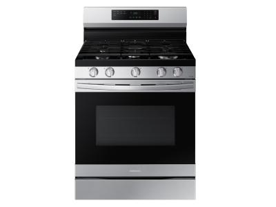 """30"""" Samsung 6.0 Cu. Ft. Freestanding Gas Fan Convection Range With Wi-Fi And Air Fry - NX60A6511SS"""