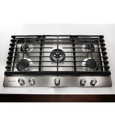 "30"" KitchenAid 5-Burner Gas Cooktop - KCGS550ESS"