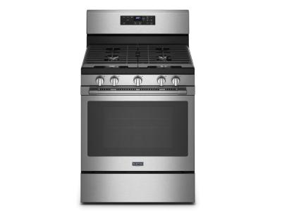 """30"""" Maytag 5.0 Cu. Ft. Freestanding Gas Range With Air Fryer And Basket - MGR7700LZ"""