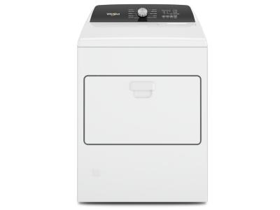 """29"""" Whirlpool 7.0 Cu. Ft. Top Load Gas Moisture Sensing Dryer - WGD5010LW"""
