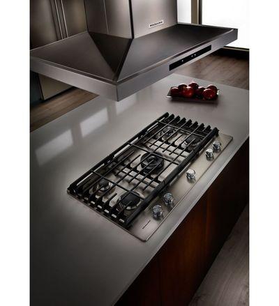 "36"" KitchenAid 5-Burner Gas Cooktop - KCGS556ESS"