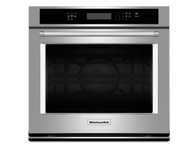 """27""""  KitchenAid 4.3 Cu. Ft. Single Wall Oven with Even-Heat True Convection - KOSE507ESS"""