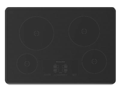 "30"" KitchenAid Induction Cooktop with 4 Elements and Touch-Activated Controls - KICU500XBL"