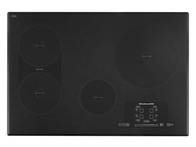 "30"" KitchenAid Induction Cooktop with 4 Elements, Touch-Activated Controls and Power Slider - KICU509XBL"