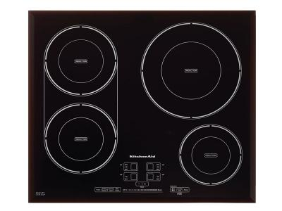 "24"" KitchenAid 4-Element Induction Cooktop - KCIG704FBL"
