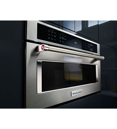 "27"" KitchenAid Built In Microwave Oven with convection cooking - KMBP107ESS"