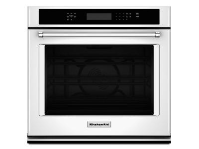 "27"" KitchenAid Single Wall Oven with Even-Heat True Convection - KOSE507EWH"