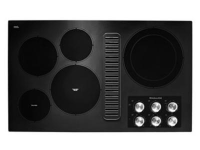 "36"" KithenAid Electric Downdraft Cooktop with 5 Elements - KCED606GBL"
