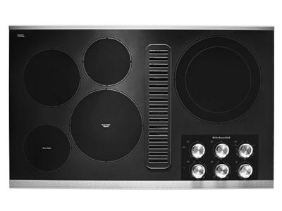 "36"" KitchenAid Electric Downdraft Cooktop with 5 Elements - KCED606GSS"