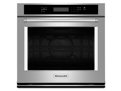 "30"" KitchenAid Single Wall Oven with Even-Heat True Convection - KOSE500ESS"