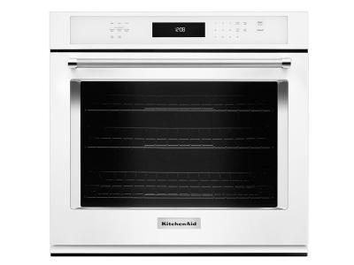 "30"" KitchenAid Single Wall Oven with Even-Heat True Convection - KOSE500EWH"