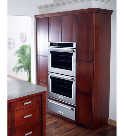 "30"" KitchenAid  Double Wall Oven with Even-Heat True Convection - KODE500ESS"