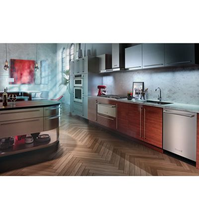 "30"" KitchenAid Combination Wall Oven with Even-Heat  True Convection (lower oven) - KOCE500EBL"