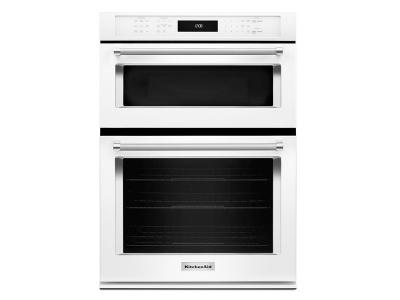"30"" KitchenAid Combination Wall Oven with Even-Heat  True Convection (lower oven) - KOCE500EWH"