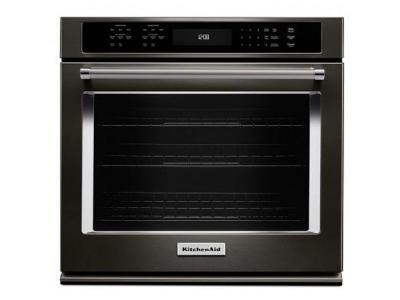 "30"" KitchenAid Single Wall Oven with Even-Heat True Convection KOSE500EBS"