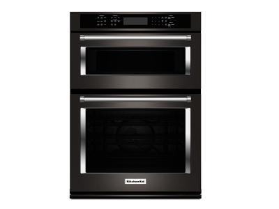 "30"" KitchenAid Combination Wall Oven with Even-Heat  True Convection (lower oven) -KOCE500EBS"