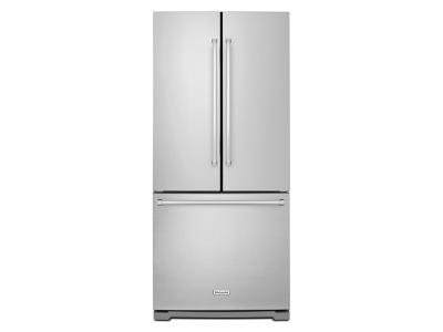 "30"" KitchenAid  20 cu. Ft. Standard Depth French Door Refrigerator with Interior Dispense KRFF300ESS"