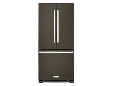 "30"" KitchenAid Width Standard Depth French Door Refrigerator with Interior Dispense KRFF300EBS"
