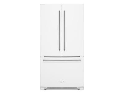 "36"" KitchenAid 25 cu. ft.  Standard Depth French Door Refrigerator with Interior Dispense - KRFF305EWH"