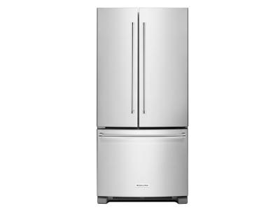 "33"" KitchenAid 22 cu. Ft. Width Standard Depth French Door Refrigerator with Interior Dispense - KRFF302ESS"