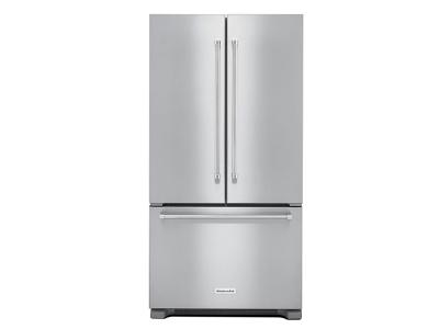 "36"" Kitchenaid 22 cu. ft. Width Counter Depth French Door Refrigerator with Interior Dispense - KRFC302ESS"