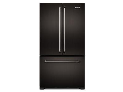 "36"" KitchenAid 22 cu. ft. Width Counter Depth French Door Refrigerator with Interior Dispense KRFC302EBS"
