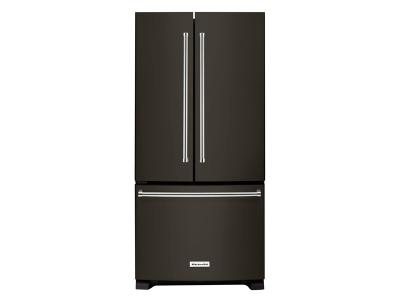 "33"" KitchenAid 22 cu. Ft. Width Standard Depth French Door Refrigerator with Interior Dispense - KRFF302EBS"