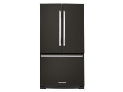 "36"" KitchenAid 25 cu. ft. Standard Depth French Door Refrigerator with Interior Dispense - KRFF305EBS"