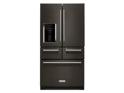 "36"" Kitchenaid Multi-Door 25.8 Cu. Ft.  Freestanding Refrigerator with Platinum Interior Design KRMF706EBS"