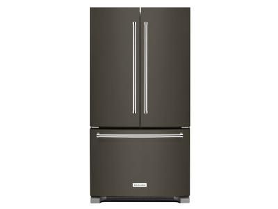 "36"" KitchenAid 20 cu. ft. Width Counter-Depth French Door Refrigerator with Interior Dispense - KRFC300EBS"