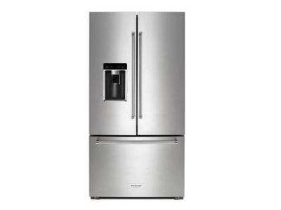 "36"" KitchenAid® 23.8 cu. ft. Counter-Depth French Door Refrigerator KRFC604FSS"