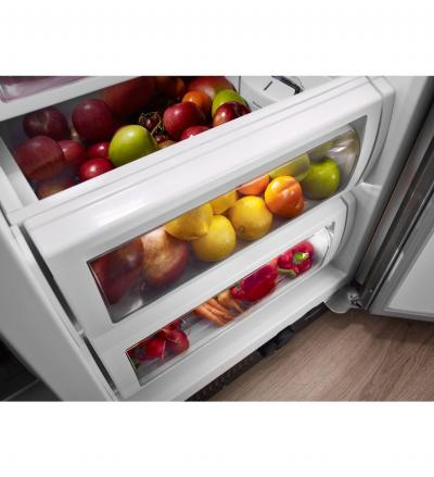 "42"" KitchenAid 25.5 cu. ft. Width Built-In Side by Side Refrigerator KBSN602ESS"