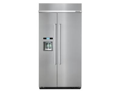 "42"" KitchenAid& 25.0 cu. ft Width Built-In Side by Side Refrigerator - KBSD612ESS"