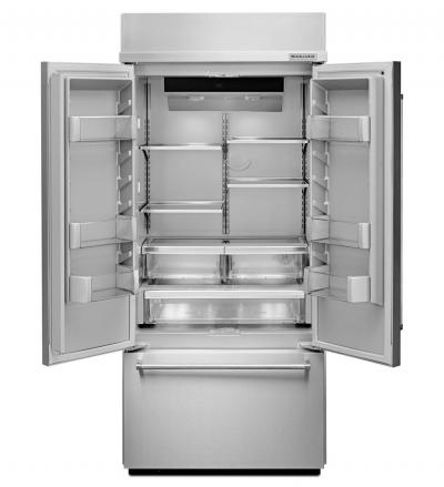 "36"" KitchenAid 20.8 Cu. Ft. Built In Stainless Steel French Door Refrigerator with Platinum Interior Design - KBFN506ESS"