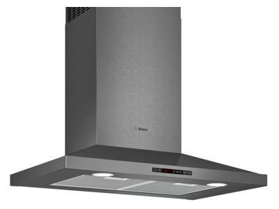 """30"""" Bosch 800 Series Chimney Hood Black Stainless Steel - HCP80641UC"""