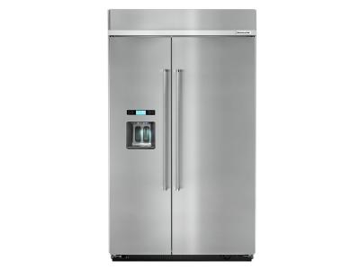 "48"" KitchenAid 29.5 cu. ft Built-In Side by Side Refrigerator KBSD608ESS"