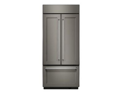 "36"" KitchenAid 20.8 Cu. Ft.  Built In Panel Ready French Door Refrigerator with Platinum Interior Design - KBFN506EPA"