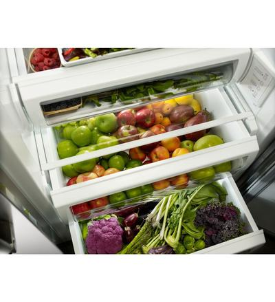 "48"" KitchenAid® 30.0 cu. ft  Width Built-In Side by Side Refrigerator KBSN608ESS"