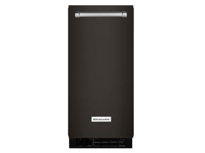 "15"" KitchenAid Ice Maker 25 lb. Black Stainless Steel - KUIX535HBS"