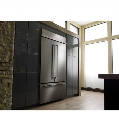 "42"" KitchenAid 24.2 Cu. Ft. Built-In Stainless French Door Refrigerator with Platinum Interior Design - KBFN502ESS"