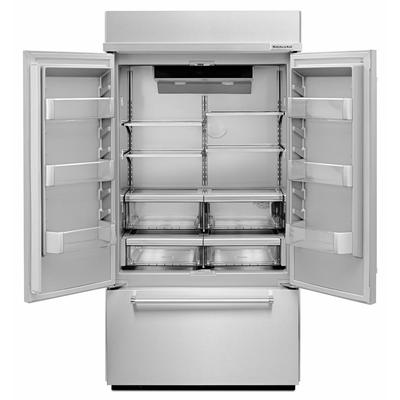 "42"" KitchenAid 24.2 Cu. Ft.  Built-In Panel Ready French Door Refrigerator with Platinum Interior Design - KBFN502EPA"