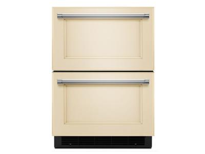 "24"" KitchenAid® Panel Ready Double Refrigerator Drawer KUDR204EPA"