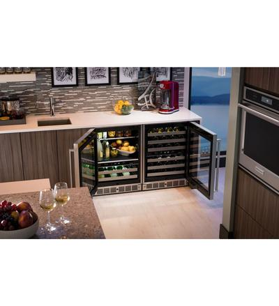 "24"" KitchenAid Stainless Steel Beverage Center with SatinGlide Metal-Front Racks - KUBL304ESS"