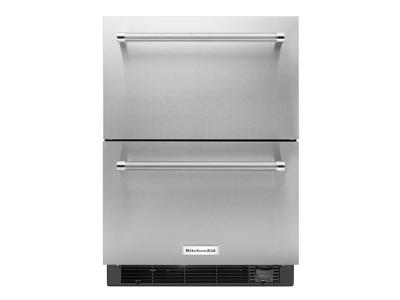 "24"" KitchenAid® Stainless Steel Refrigerator/Freezer Drawer KUDF204ESB"
